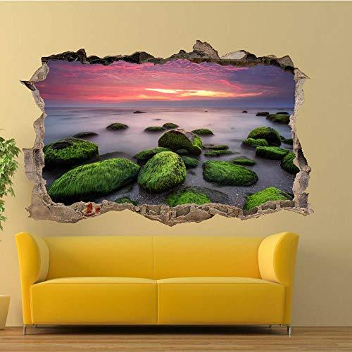 Sea Sunset Nature Scenery Wandaufkleber 3D Art Wandtattoo Decal Office Shop Decor 80x125cm