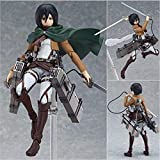 Anime Attack On Titan Mikasa Ackerman Figma Action 15Cm PVC Gambar Model Mainan Figurine Koleksi Boneka