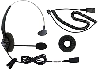 RJ9 Corded Phone Headset for Corded Home Telephones Office Analog Phones Aastra Avaya Polycom Digium Mitel ShoreTel NEC Phone