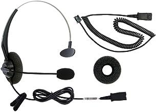 RJ9 Corded Phone Headset for Corded Home Telephones Office Analog Phones Aastra Avaya Polycom Digium Mitel ShoreTel NEC Phone photo