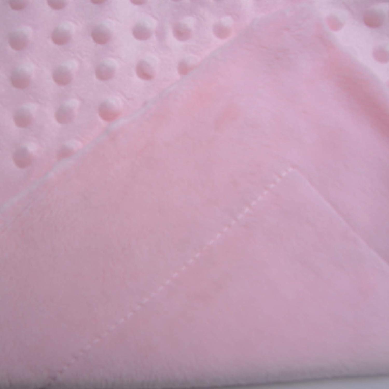 Coralina Himmelblau PEKITAS Minky Dots Babydecke extra weich 110 x 80 cm