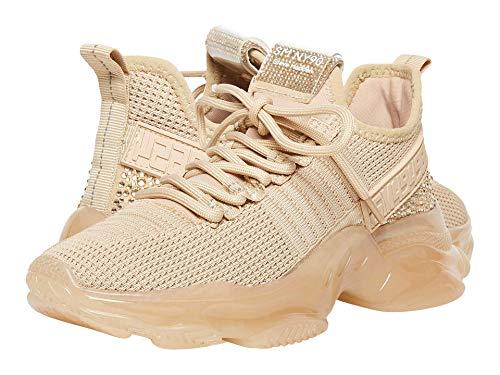 Steve Madden Women's Maxima Sneaker, Blush Multi, 7