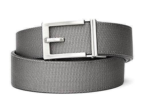 "KORE Men's Nylon Web Track Belts | ""Express"" Nickle..."