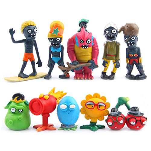 PlantsVsZombies Plants VS Zombies - Set 10 Figuren 3-8cm / PVZ 10 Figuren Set 1