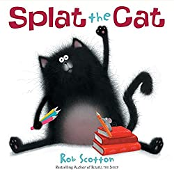 Splat is going to school for his very first day and is very reluctant to go. As he is leaving he sneaks his pet mouse into his lunchbox. Later, at school when the mouse gets away, all the cats chase him, of course. Check this blog post for a STEM Challenge!