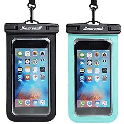 "Hiearcool Universal Waterproof Case,Waterproof Phone Pouch Compatible for iPhone 11 Pro Max XS Max XR X 8 7 6S Plus Samsung Galaxy s10/s9 Google Pixel 2 HTC Up to 7.0""?IPX8 Cellphone Dry Bag -2 Pack"