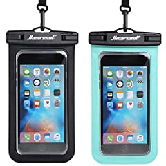 IPX8 Certificated Universal Waterproof Phone Pouch: If you want to enjoy your time in the water without leaving your phone behind, a waterproof phone pouch is a must-have. Up to about 100 feet (30 meters)water-resistant, Hiearcool waterproof phone po...
