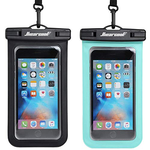 Hiearcool Universal Waterproof Case,Waterproof Phone Pouch Compatible for iPhone 11 Pro Max XS Max XR X 8 7 6S Plus Samsung Galaxy s10/s9 Google Pixel 2 HTC Up to 7.0