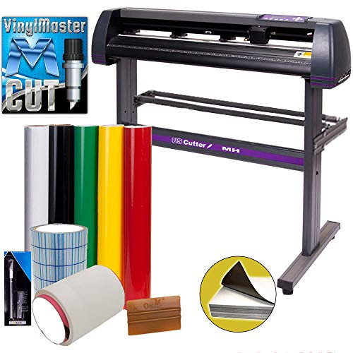 Vinyl Cutter USCutter MH 34in Bundle - Sign Making Kit w/Design & Cut Software, Supplies, Tools,...