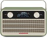 Nordmende Transita 120 tragbares DAB Radio (DAB+, UKW, 24 Stunden Akku, Aux In, Wecker, 2 Weckzeiten, Sleeptimer, Snooze-Funktion, Kopfhöreranschluss) grün