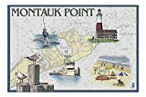 Montauk Point - Nautical Chart 40695 (500 Piece Premium Jigsaw Puzzle for Adults and Family, 13x19) Product measures 13 x 19 inches, 500 Pieces, includes large poster 100% Made in Germany! We use premium gray board (see picture), the highest quality ...