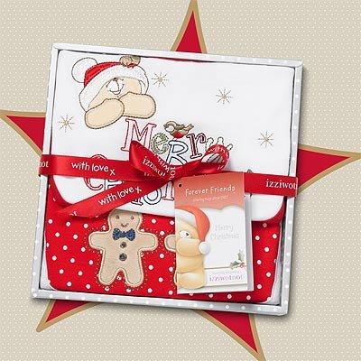 Izziwotnot Forever Friends flocon de neige de Noël Boîte Cadeau pour bébé, 0–3 mois