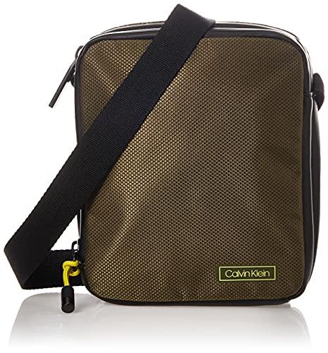 Calvin Klein - Revealed 2g Mini Reporter, Organizadores de bolsos Hombre, Verde (Dark Olive), 0.1x0.1x0.1 cm (W x H L)