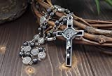 Zoom IMG-2 collana di rosario ematite cattolico