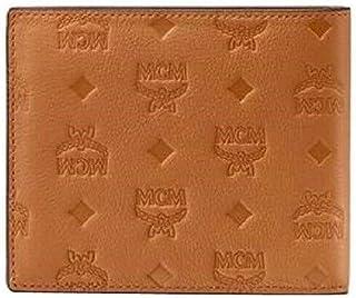 MCM Men's Cognac Brown In Monogram Leather Small Bifold Wallet MXS9SKM45CO001