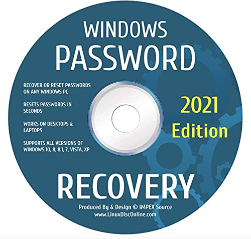 Password Reset Recovery Disk Compatible With Win 10,8.1,8,7,*Vista/XP Rated #1 Best Unlocker Remove Software CD DVD Compatible With All PC Computers Laptops & Desktops