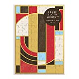 Galison Frank Lloyd Wright Hoffman Rug Greeting Card Puzzle, 60 Pieces – A Greeting Card and Jigsaw Puzzle Combined – Features Wright's Iconic Artwork, Includes Envelope & Sticker Seal