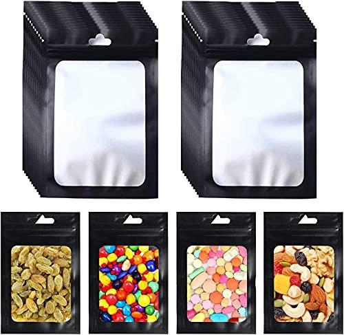 Sweetone 200 Stück druckverschlussbeutel Plastiktüte Ziplock Folien Beutel Tasche Flachbeutel Geruchssichere wiederverschließbare zur Aufbewahrung von Lebensmitteln(3 x 4 Zoll)