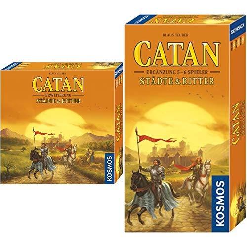 Kosmos - Catan - Städte & Ritter, neue Edition Strategiespiel &  695514 - Catan - Städte & Ritter Ergänzung für 5 - 6 Spieler