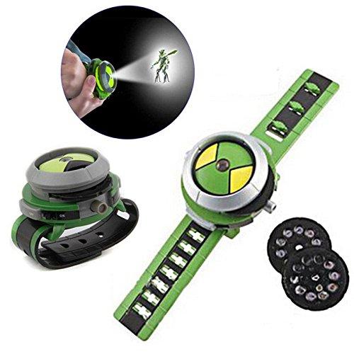Reloj de pulsera de juguete con proyector deslizante para niños, regalo de Navidad para Ben 10