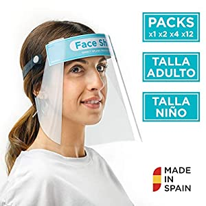 51aYCB6EDTL. SS300  - Pantalla Protección Facial Sonaprotec - Protector Facial Antivaho. Talla Niños y Adultos. Visera Protectora para la Cara Face Shield Fabricadas en España - Talla Mediana - Pack 1