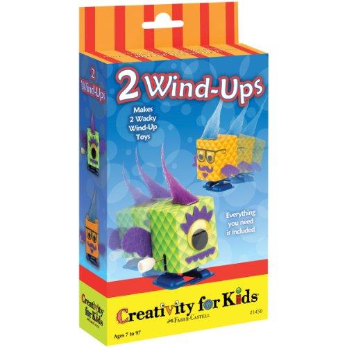 Creativity for Kids CFK1450 - Mini-Bastelset: 2 Aufziehfiguren, Kinder-Bastelset