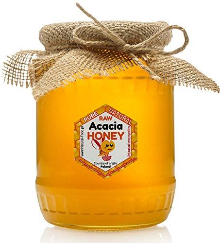 Miele di acacia da Polonia | 1,1 kg | Fresco | Non pastorizzato, naturale, crudo | Molto sano e gustoso | Barattolo di vetro | Fatto dalle api |