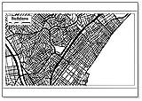 Badalona - Imán para nevera, diseño de mapa de la ciudad de España