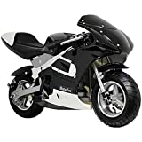 MotoTec Gas Pocket Bike Motorcycle -Black - Non CA compliant