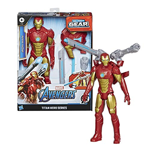 Hasbro Marvel Legends Avengers - Iron Man (Action Figure 30cm con Blaster Titan Hero Blast Gear)