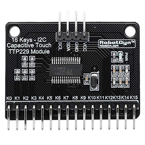 hgbygvuy 3pcs 16 Keystone TTP229 Modulo sensore Touch Capacitivo I2C Bus S