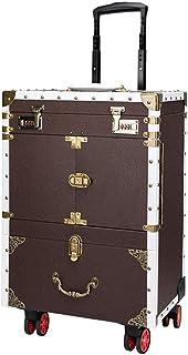 حقيبة سفر كبيرة الحجم من hairdresser Toolbox حقيبة مكياج دوارة بكلمة مرور مزدوجة