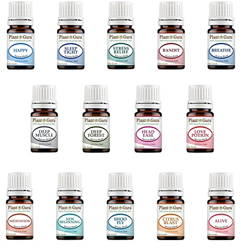 Essential Oil Blends Set 14-5ml 100% Pure Therapeutic Grade for Sleep, Relaxation, Stress and Anxiety, Headaches and Migraines, Muscle Pain Relief, Colds and Coughs. Great for Aromatherapy Diffuser