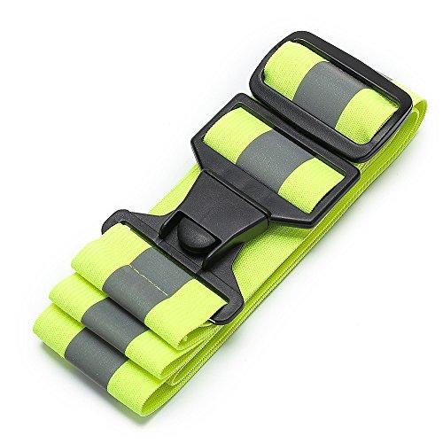 AYKRM 5 Farben Mehrere Reflektor Gürtel Reflektorgurt Reflektierender Sicherheitsgürtel Hohe Sichtbarkeit Reflektoren Gurt Reflektorband Reflexgurt Laufen Jogge (gelb, S-XXL)
