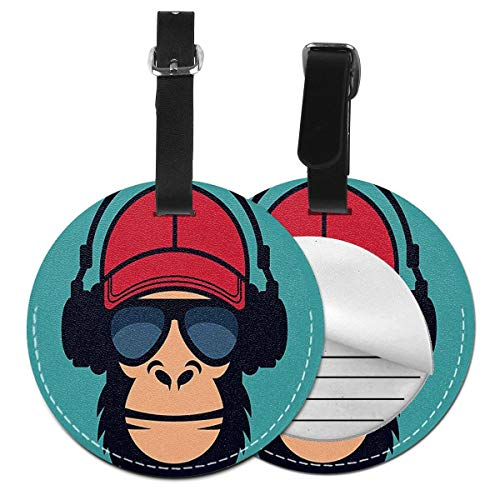 Luggage Tags Funky Monkey Music Maker Suitcase Luggage Tags Business Card Holder Travel Id Bag Tag