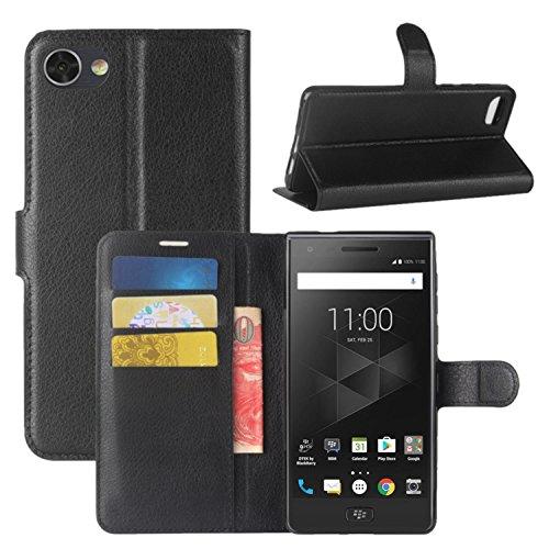 HualuBro BlackBerry Motion Hülle, [All Aro& Schutz] Premium PU Leder Leather Wallet Handy Tasche Schutzhülle Hülle Flip Cover mit Karten Slot für BlackBerry Motion Smartphone (Schwarz)