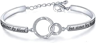 Gift for Best Friend Friendship Bracelet Not Sister by Blood But Sister by Heart Jewelry Friend Sister Bangle