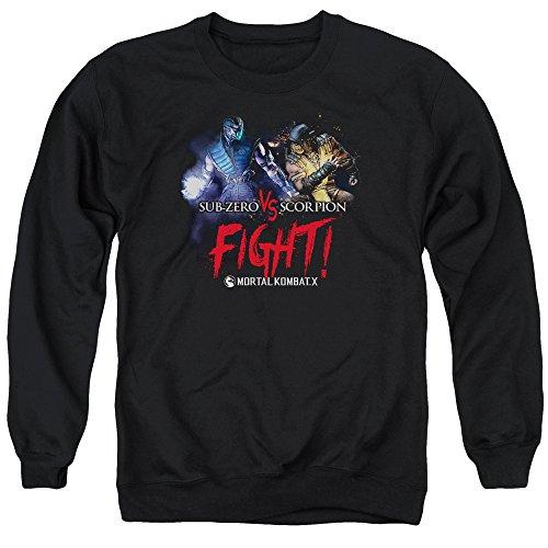 Mortal Kombat - - Lutte Pull pour hommes, Large, Black