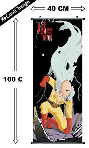 CoolChange Poster/ Kakemono de Tela de One Punch Man, 100x40cm, Tema: Saitama