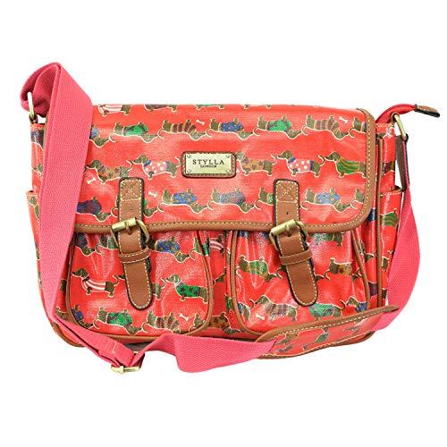 T & S ,  Damen Tornistertasche , Mehrfarbig - Sausage Fushia - Größe: Medium