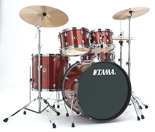 Tama rm52kh6 C-rds Rhythm mate Batería completa (5 FUTS 22/10/12/16 con HARDWARE y Cymbals), Red Stream