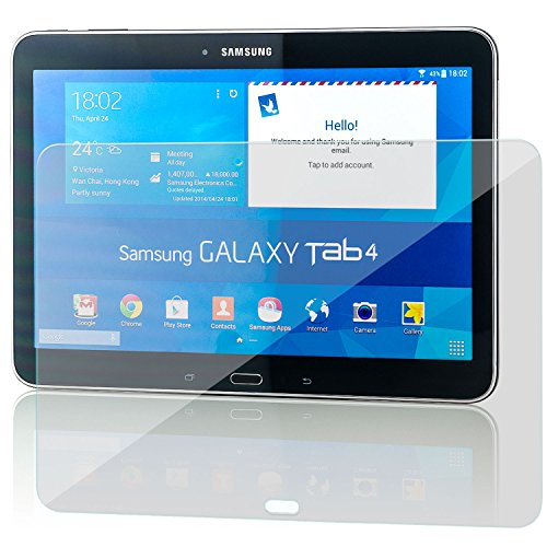 zanasta [2 Stück] Bildschirmschutz Folie kompatibel mit Samsung Galaxy Tab 4 10.1 Schutzfolie aus Gehärtetem Glas (Glasfolie) HD Klar Transparent