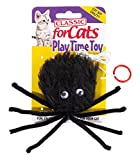Classic Pet Products Furry Spider Cat Toy, Black