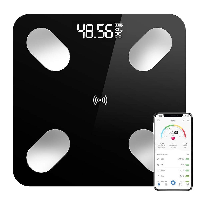 ペンダント誤って助けてZUMECA 体脂肪計 体重計 体重?体組成計 ヘルスメーター スマートスケール Bluetooth 体重計 体重/体脂肪率/体水分率/推定骨量/基礎代謝量/内臓脂肪レベル/BMIなど スマホで同期分析 iPhone/Android アプリで データ記録 健康管理 ダイエット(日本語対応APP&取扱説明書) (ブラック)
