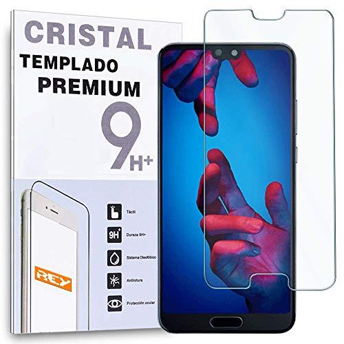REY Protector de Pantalla para Huawei P20, Cristal Vidrio Templado Premium