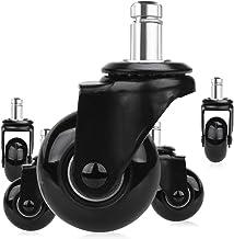 YEAJION 5-delige vervangstoel stuurwiel 2 inch, high-performance wielen met steekstang 7/16 x 7/8 inch, stil en zacht rollen