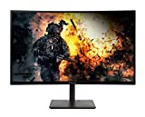 AOPEN 27HC5R Zbmiipx 27' 1500R Curved Full HD (1920 x 1080) VA Gaming Monitor with Adaptive-Sync Technology, 240Hz, 1ms (Display Port & 2 x HDMI 1.4 Ports), Black
