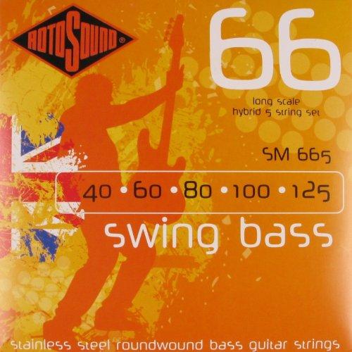 CUERDAS BAJO ELECTRICO - Rotosound (SM/665) Hybrid/Swing/Bass (Juego 5 Cuerdas 040/060/080/100/125)