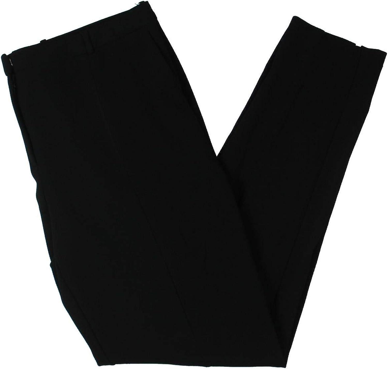 BOSS Hugo Boss Womens Atestelito Textured Business Suit Pants Black 8