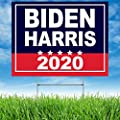 Note Card Café 2020 Biden Political Campaign Large Yard Sign | Biden Harris | 24 x 18 in | Printed Front and Back | Includes H Stake | Made in The USA | Weather Resistant for Lawn, Patio | Single